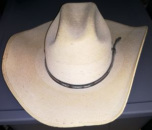 COUNTRY FASHION - CAVENDER'S BOOTS - SILVERADO MODEL STRAW COWBOY HAT - GREAT FOR ALL WEATHER - SIZE 7 ⅛ USA // 57 EN MEXICO for Sale in Houston, TX
