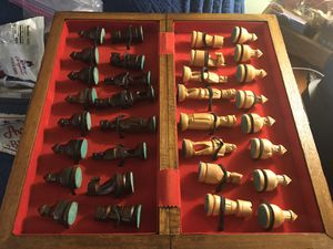Hand carved chess set for Sale in Glen Burnie, MD