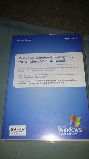Microsoft Genuine Advantage Kit for Windows XP Professional for Sale in Orlando, FL