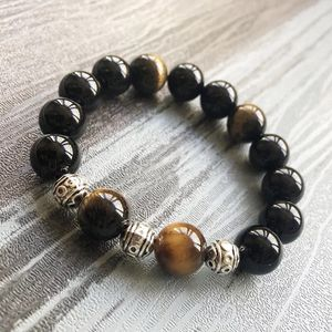 Natural Stone Beaded 12mm Tiger's eyes meditation healing stone power bracelets gifts ⭐️Brand New⭐️ for Sale in Chicago, IL