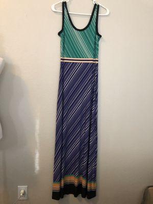 Calvin Klein Size Small Maxi Dress purple gold green stripes for Sale in Sugar Land, TX