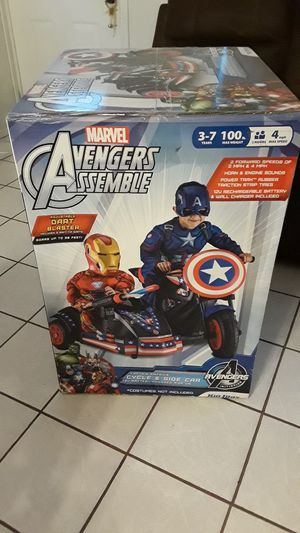 Marvel Avengers Captain America 12v Cycle w/side car Kid Trax ride on New for Sale in TWN N CNTRY, FL