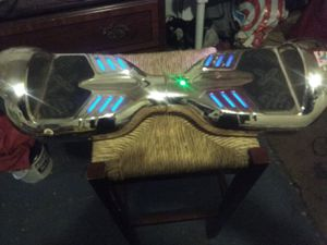 Silver Xtreme Hoverboard. With lights and Bluetooth. for Sale in Fresno, CA