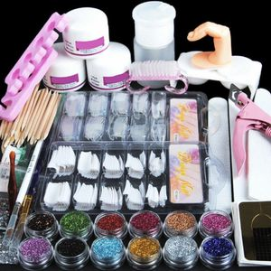 34 in 1 Acrylic Nail Kit Acrylic Powder Glitter Nail Art Manicure Tool Tips Brush Set INCLUDE 200 False Nails Tips for Sale in Ontario, CA