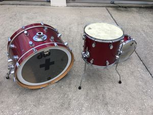 "DW Pacific custom 3 piece & a 15"" Yamaha chrome Tom for Sale in Orlando, FL"