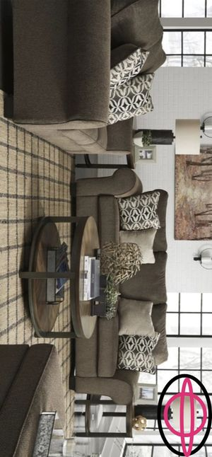 🔸Brand New in box Nesso Walnut Living Room Set | 49102 includes Sofa and Loveseat 🔸 for Sale in Houston, TX