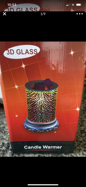 Kenking Electric Candle Warmer 3D Glass Wax Melt Fireworks Design for Home Office Bedroom, Fragrance Decorative Lamp Home Décor Christmas Gift(Gold) for Sale in Knightdale, NC