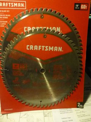 "Craftsman 10"" Miter/Table Saw Blades (2) for Sale in PA, US"