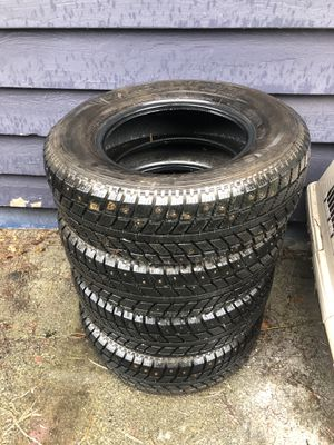 Pending pick up-Four free studded snow tires -west Seattle for Sale in Redmond, WA