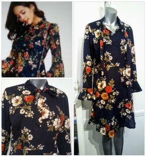 $10. Floral Sleeved Fall dress size M for Sale in Whittier, CA