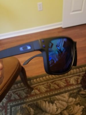 Holbrook matte black frame with light blue polarized lens and blue O brand new in box for Sale in North Chili, NY