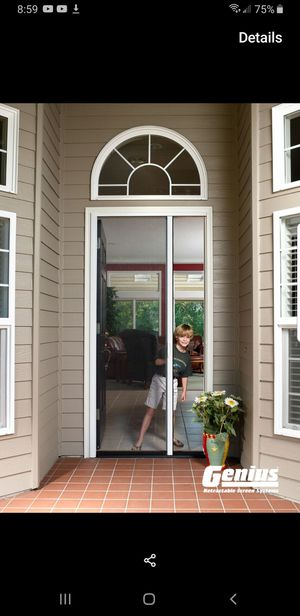 Genius retractable screen door for Sale in Fontana, CA