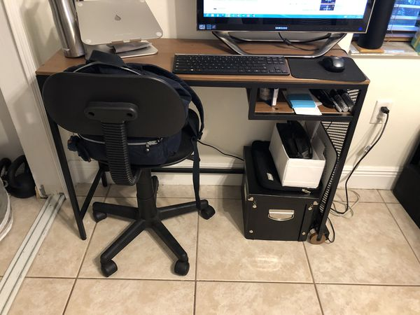 Desk with Chair - $45 or Best Offer