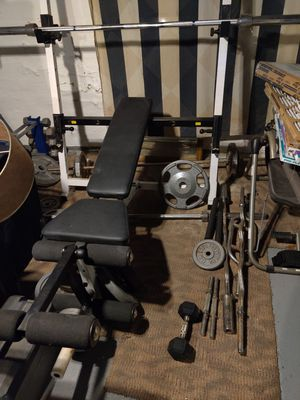 Bench with all weights for Sale in Parma, OH