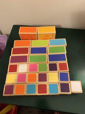 Block set (colors, abc's, animals, words, farm scenes) for Sale in Moseley, VA