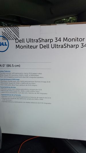 Dell 34' curve ultra sharp monitor for Sale in Houston, TX