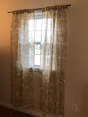 Pottery Barn Elena Palampore drapes /curtains, set of 4 panels for Sale in Annandale, VA
