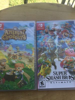 NINTENDO SWITCH ANIMAL CROSSING AND SUPER SMASH BROS BUNDLE NEW STILL SEALED for Sale in San Diego, CA