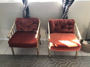 Pair of mid century Hollywood regency chairs for Sale in Newport Beach, CA