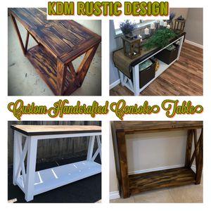 Custom Farmhouse Console Tables for Sale in El Cajon, CA