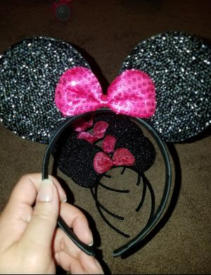 Minnie Mouse Girls Sequins Bow and Ears Headband for Sale in La Grange Park, IL