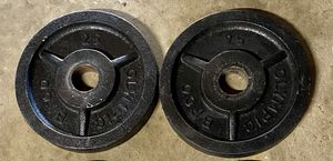 2-25 lb Olympic weights for Sale in El Cajon, CA