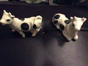 Cow salt and pepper shakers set Holsteins for Sale in Ridgeway, WI