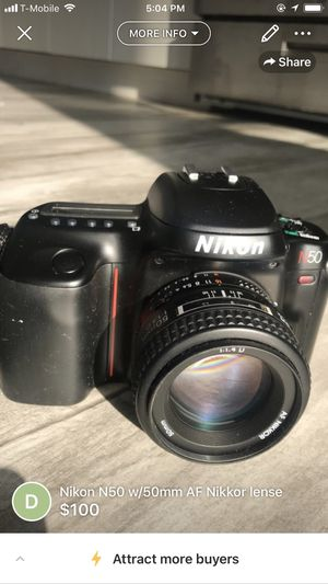 Nikon N50 w/50mm AF Nikkor lense for Sale in Brooklyn, NY