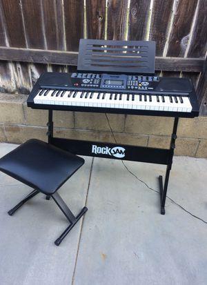 Like new Rock Jam keyboard for Sale in Orange, CA