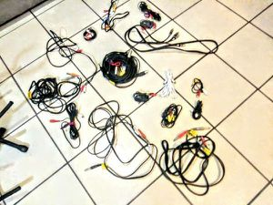 """Tons of Audio Cables / Adapters, 1/4"""" inch, 1/8"""" inch, RCA for Sale in Los Angeles, CA"""