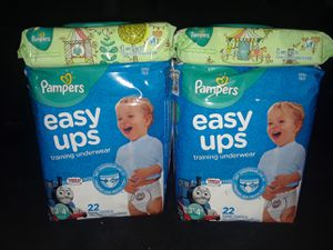2-22 counts size 3T-4T Pampers Easy ups training underwear & 2-72 counts wipes for Sale in Orange Park, FL