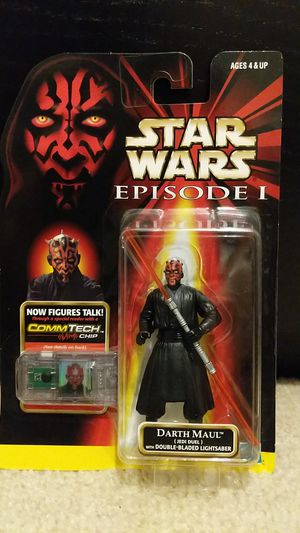 Star Wars Ep1 Darth Maul w/ Double Blade Lightsaber for Sale in Houston, TX
