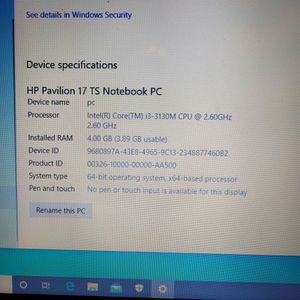 HP PAVILION 17.5 TS NOTEBOOK WITH EXTRAS for Sale in Apple Valley, CA