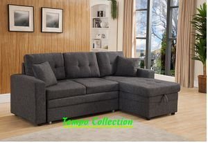 NEW IN THE BOX. SECTINAL SOFA PULL OUT BED, SKU# TC8008-GRAY for Sale in Santa Ana, CA