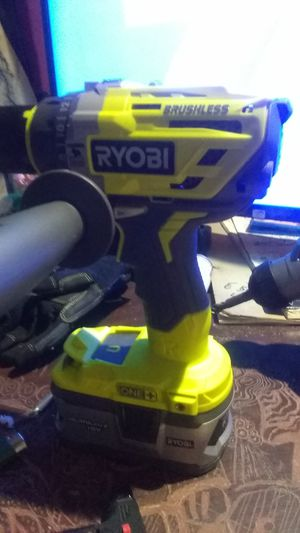 Brand new Ryobi brushless hammer drill with 4r a h battery &charger$90 for Sale in Cleveland, OH
