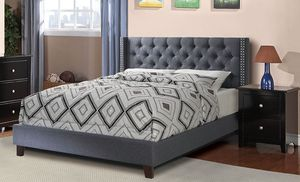 Queen Tufted Upholstered Bed Frame, Grey for Sale in Santa Fe Springs, CA