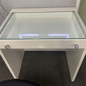 Hollywood White Premium Vanity Drawer Desk | Available In Black for Sale in Long Beach, CA