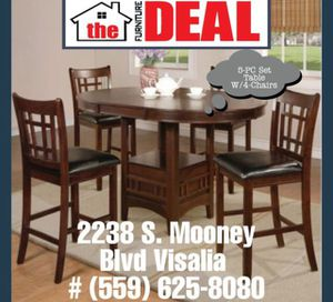 5-PC Dining Set Table W/4-Chairs for Sale in Tulare, CA