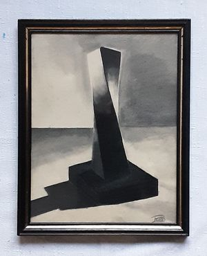 A vintage Abstract hand drawn Monolith by artist Beals for Sale in Tacoma, WA