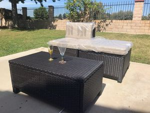 Patio Wicker Lounge or Can be 2 Chairs & Table Brand New for Sale in Walnut, CA