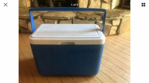 Vintage Coleman 5277 cooler blue and white for Sale in Charlotte, NC