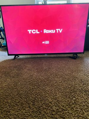 "50"" TCL Roku Tv with remote, Black, HDMI,4K definition, Model 50S421 for Sale in Columbia, SC"
