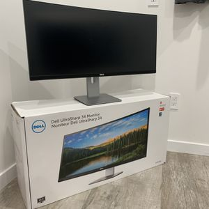 Dell U3415W 34 inch Ultrawide Monitor with Built in Speakers 3440 X 1440 for Sale in Los Angeles, CA