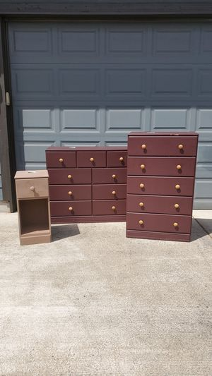 Solid cedar bedroom set, two dressers and one night stand for Sale in Vancouver, WA