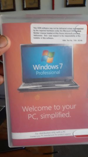 Windows 7 Professional for your PC for Sale in Pittsburg, CA