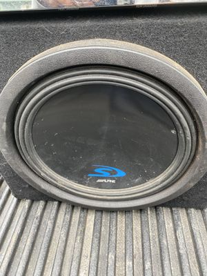Combo Alpine subwoofer and rockfordfosgate amp for Sale in Round Lake, IL