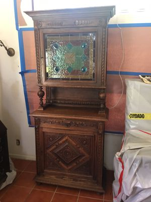 Antique Stained Glass Cabinet for Sale in Boca Raton, FL