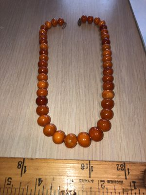 """Vintage Baltic Amber 17-1/2"""" Graduated Bead Necklace From Estate (Nice High Quality) for Sale in Berlin, NJ"""