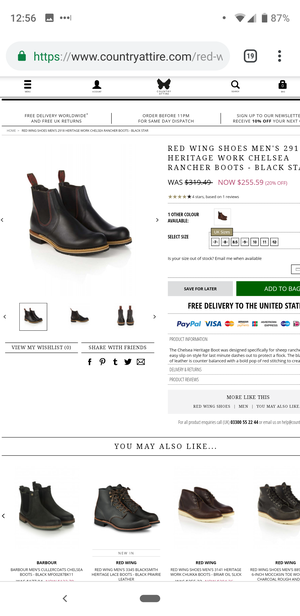 Red Wing Chelsea Boots. for Sale in New York, NY
