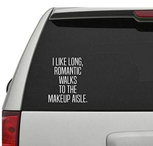I Like Long Romantic Walks to The Makeup AisleDecal Sticker for Sale in Corona, CA
